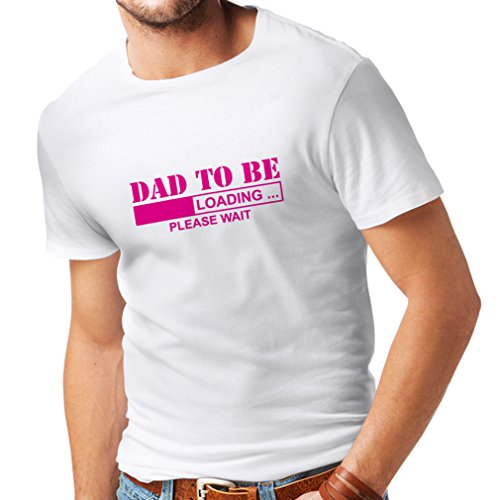Dad White 1 T-shirt - lepni.me T Shirts for Men Dad to be - Loading New dad Tshirt Funny Gifts for dad 1 dad, Baby Daddy Gifts (Medium White Magenta)