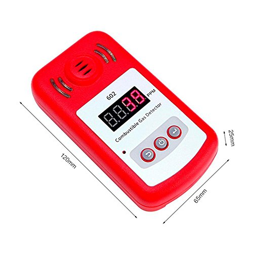 Aolvo Propane/Natural Gas Detector, Portable Handheld Combustion Gas Leak Detector Tester with Sound Alarm and Digital Display, Monitor Explosive Gas : Methane, Butane, LPG, LNG - Battery Powered by Aolvo (Image #2)