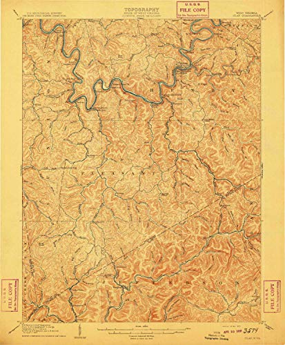 YellowMaps Clay WV topo map, 1:62500 Scale, 15 X 15 Minute, Historical, 1910, 19.9 x 16.5 in - ()