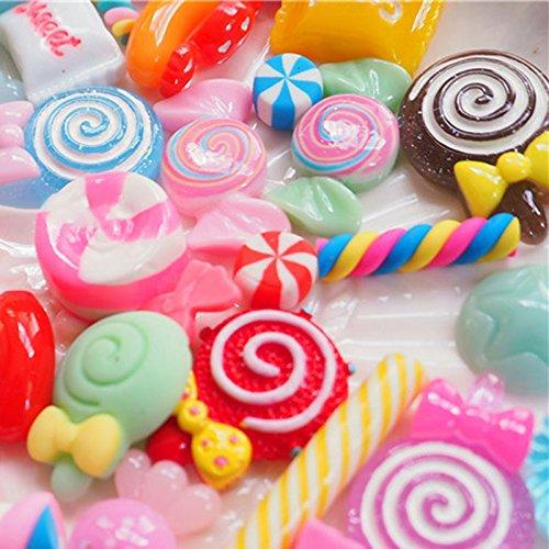 Alextry 30 St/ück FAI Te Scrapbooking Telefon Decor Kunsthandwerk aus Kunstharz mit Lollipop Candy Zubeh/ör