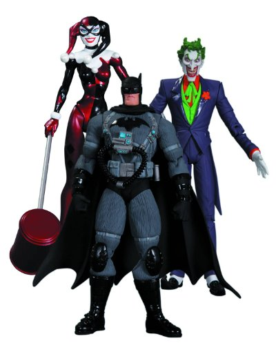 DC Collectibles Hush The Joker, Harley Quinn and Stealth Batman Action Figure Playset, 3-Pack