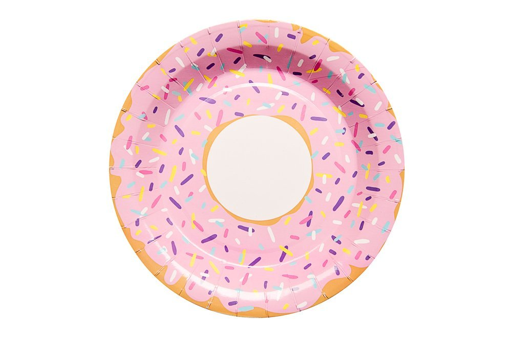 We Love Sundays Donut Paper Plates | 10-Pack | Great for Dessert Themed Parties