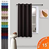 Nicetown Triple Weave Microfiber Energy Saving Thermal Insulated Solid Grommet Blackout Curtain for Patio (One Panel,52 Inch by 63 Inch,Toffee brown)