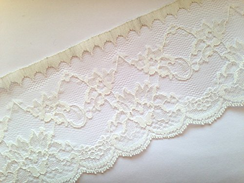 Sparkles Gems Vintage Style Lace Ribbon Trimming Bridal Wedding (Ivory, 90mm) by Sparkles Gems - Ribbon Gem