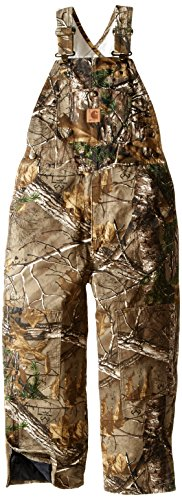 Carhartt Mens Hunting Overalls - Carhartt Big Boys' Washed Work Camo Bib Overall, Realtree Xtra, 8