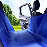 PAMPURR Pet Seat Cover Dog Seat Cover for Cars, Trucks and SUVs – Blue, Waterproof, Non-slip, Scratch Proof, Machine-washable & Hammock Convertible For Sale