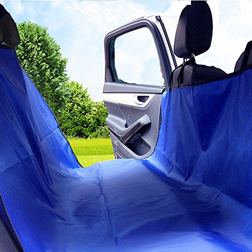 PAMPURR Pet Seat Cover Dog Seat Cover for Cars, Trucks and SUVs – Blue, Waterproof, Non-slip, Scratch Proof, Machine-washable & Hammock Convertible Review