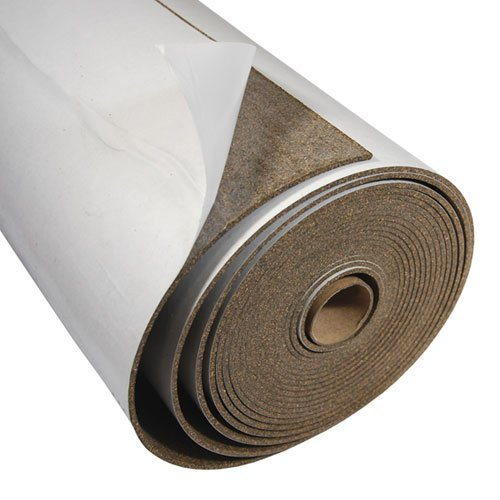 Cork and Rubber With Adhesive - 1/16'' Thick X 48'' Wide X 12' Long by Cleverbrand
