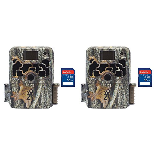 Cheap Browning Trail Cameras Dark Ops 940 16MP HD IR Game Camera, 2 Pack + SD Cards
