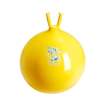 "Gymnic ""Oppy 5"" Hopping Ball (Yellow): Toys & Games"