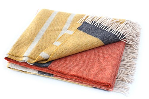Merino Wool Throw Blanket - Biddy Murphy Merino Wool Blanket Irish 100% Merino Lambswool Throw 75