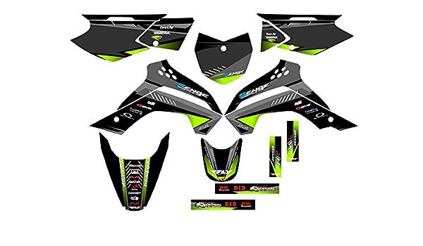 Surge Black Base Senge Graphics Kit 2010-2019 KLX110 Compatible with Kawasaki