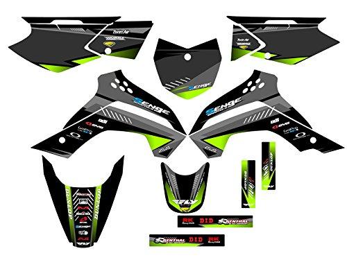 Surge Black Graphics Kit Senge Graphics kit compatible with Kawasaki 2008-2018 KLX 140
