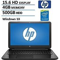 HP 15.6 HD High Performance Flagship Laptop Computer, Intel Dual-Core Celeron N3050 Up to 2.16GHz, 4GB RAM, 500GB HDD, DVDRW, USB 3.0, Webcam, WiFi, Windows 10 (Certified Refurbished)