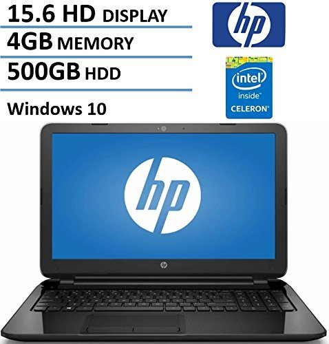 "HP 15.6"" HD High Performance Flagship Laptop Computer, Intel Dual-Core Celeron N3050 Up to 2.16GHz, 4GB RAM, 500GB HDD, DVDRW, USB 3.0, Webcam, WiFi, Windows 10 (Certified Refurbished)"