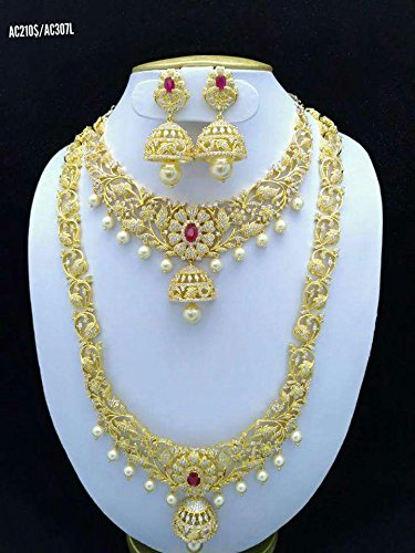 e484c41160f Buy 925SILVERSHINE Gold-Plated Diamond Traditional Rajasthani Indian Artificial  Jewellery for Women Online at Low Prices in India