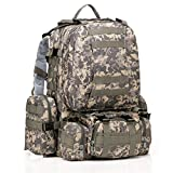 IFLYING Tactical Backpack with 3 Mole Military Rucksack Bag