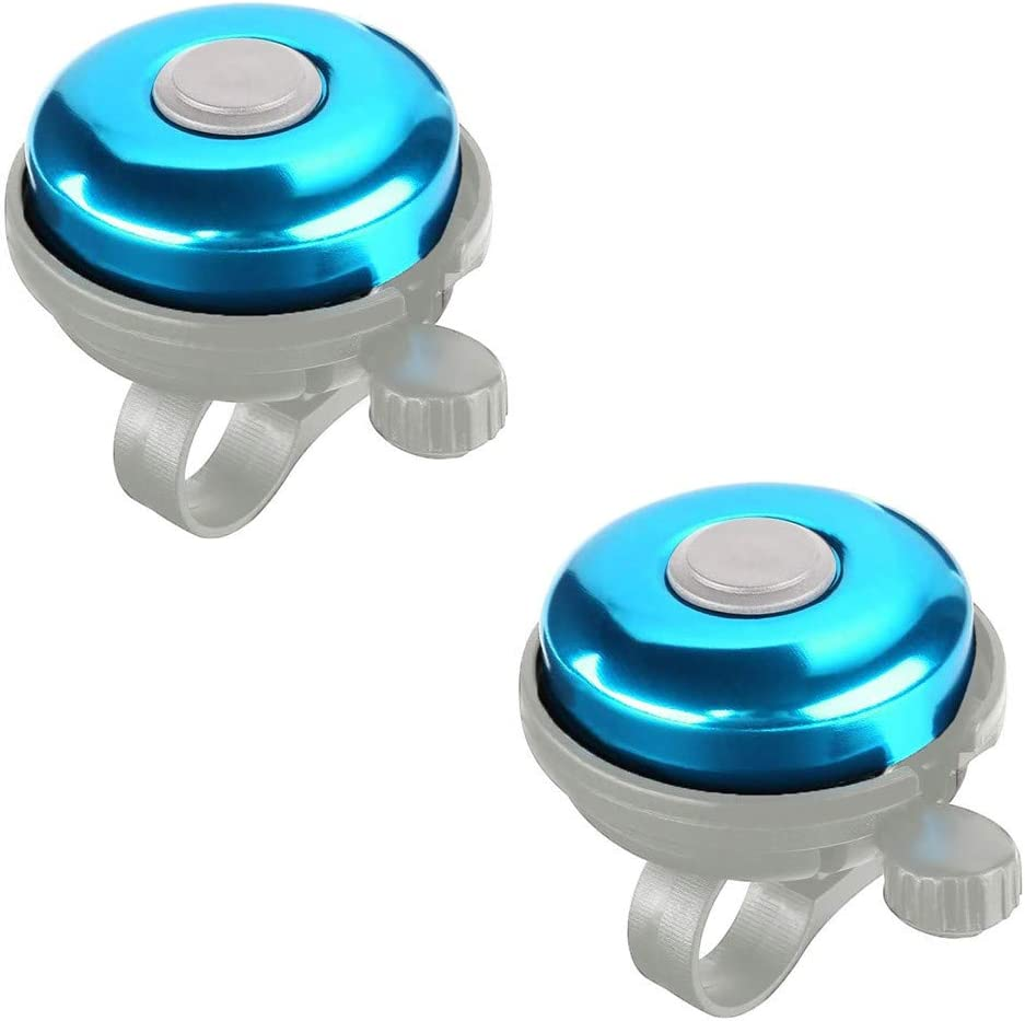 piabigka 2 Pieces Bicycle Bell Classic Bike Bells Aluminum Alloy Bicycle Bell Loud Clear Sound Bike Bell Bike Bell Ring Mini Bicycle Bell for Adult Kids Students