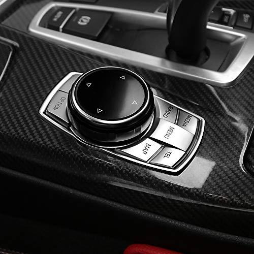 - HOTRIMWORLD Interior Center Console iDrive Multimedia Button Trim Cover for BMW 7 Series F01 F02 2009-2015 (Model B)