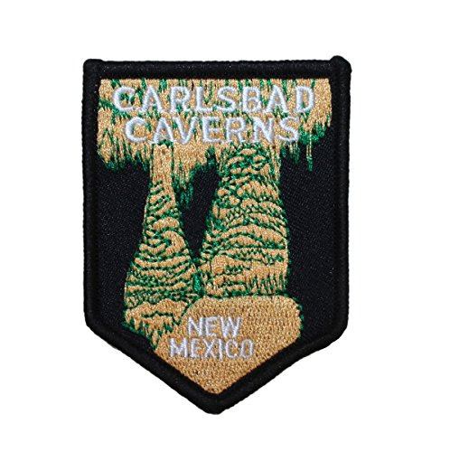 "New Mexico ""Carlsbad Caverns"" Travel Patch Park Souvenir Craft Iron-On Applique"