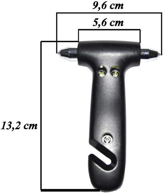 Sumex Notfall Hammer Gurt Schneider Nothammer Rettung Not Brecher Auto Fenster 13x10 Cm Pc 1 Zu Brechen Befestigung Mit Klettband Enthalten Auto
