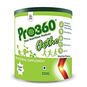 Pro360 Ortho Nutritional Supplement (Vanilla Flavour) Ideal Protein Powder For Bone, Joints And Diabetic Patients, No…