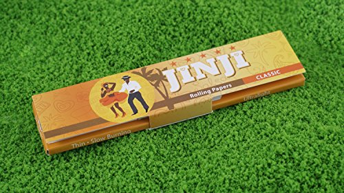 1 Box(32 Booklets) | Jinji Rolling Papers - King Size Slim + Tips (108x44mm) -