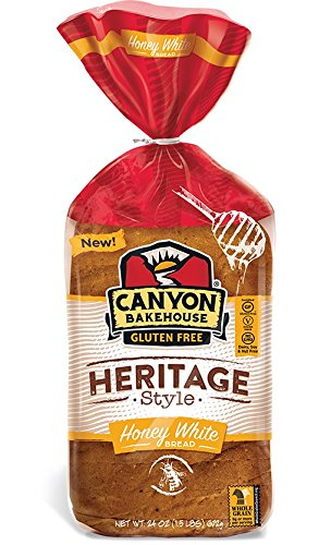 Canyon Bakehouse Gluten Free Heritage Style Honey White Bread,, 24 Oz (pack Of 6) by Canyon Bakehouse