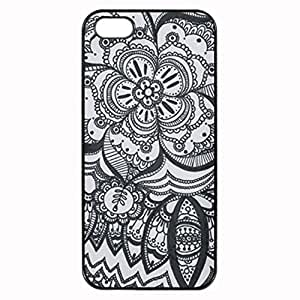 Eyed Flower Mandala Printed Plastic Rubber Sillicone Customized iphone 5s Case, iphone 5s Case Cover, Protection Quique Cover, Perfect fit, Show your own personalized phone Case for iphone 5s & iphone 5s