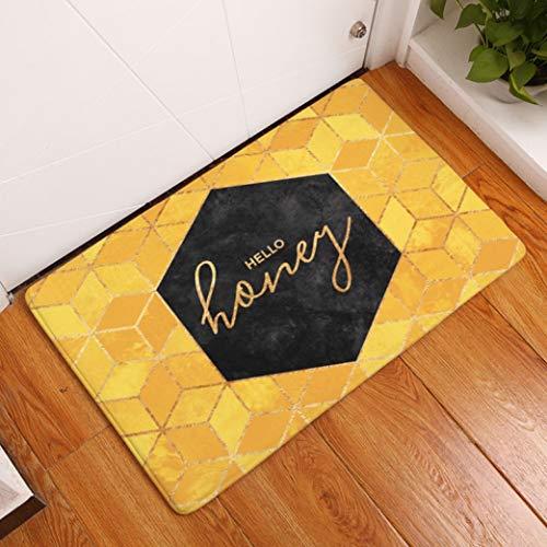 4004 Area Rug - WONNA Waterproof Anti-Slip Doormat High Traffic Areas Rug Easy Clean Washable Carpet