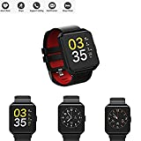 Cheap Fitness Activity Tracker Watch IP67 Waterproof Sports Stylish Bracelet Fashion Strap All Day Activity Auto Sleep Tracking Pedometer APP Support iOS/Android (Black-1)