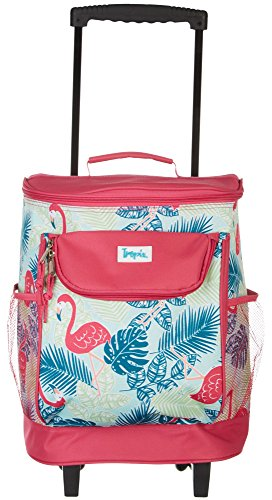 Read About Tropix Flamingos Rolling Cooler One Size Pink/Blue/Green