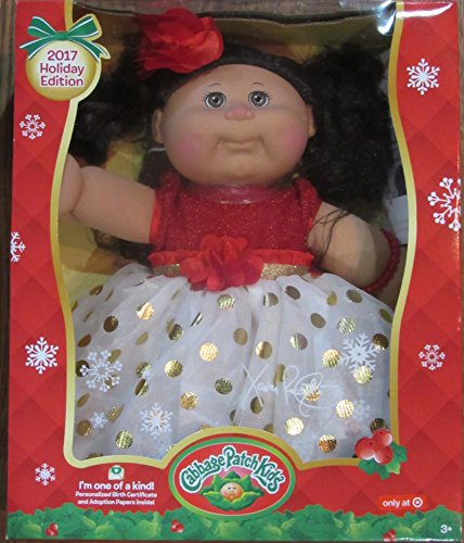 - Cabbage Patch Kids 2017 Holiday Edition Cabbage Patch Doll Dark Hair and Brown Eyes