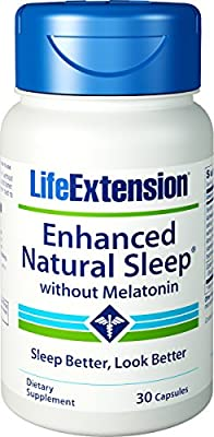 Enhanced Natural Sleep (Without Melatonin) 30 Capsules (Pack of 2)