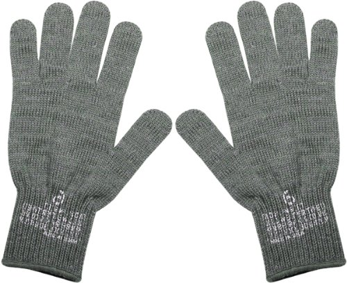 GI Wool Glove Liners (4, Green) - Wool Military Glove