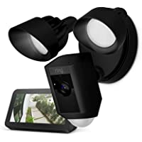 Ring Floodlight Camera (Black) with Echo Show 5 (Charcoal)