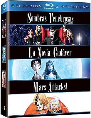Pack Tim Burton: Sombras Tenebrosas + La Novia Cadáver + Mars Attacks! Blu-Ray Blu-ray: Amazon.es: Tim Burton: Cine y Series TV