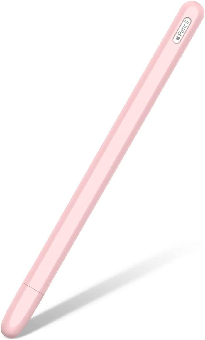 DishyKooker Silicone Case for A-pple Pencil 2 Cradle Stand Holder for i-Pad Pro Stylus Pen Protective Cover Pink Products