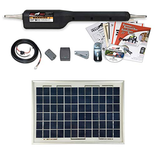 Mighty Mule MM360-SINGLE Gate-Solar Package with Solar Panel (10 Watt Panel)