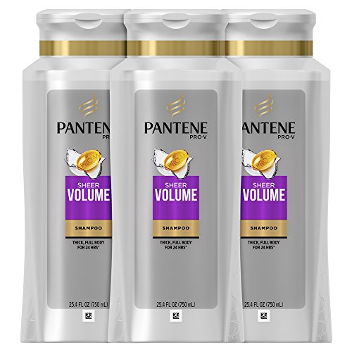 Volume Shampoo, 25.4 Fluid Ounce (Pack of 3) (Pantene Sheer Shampoo)