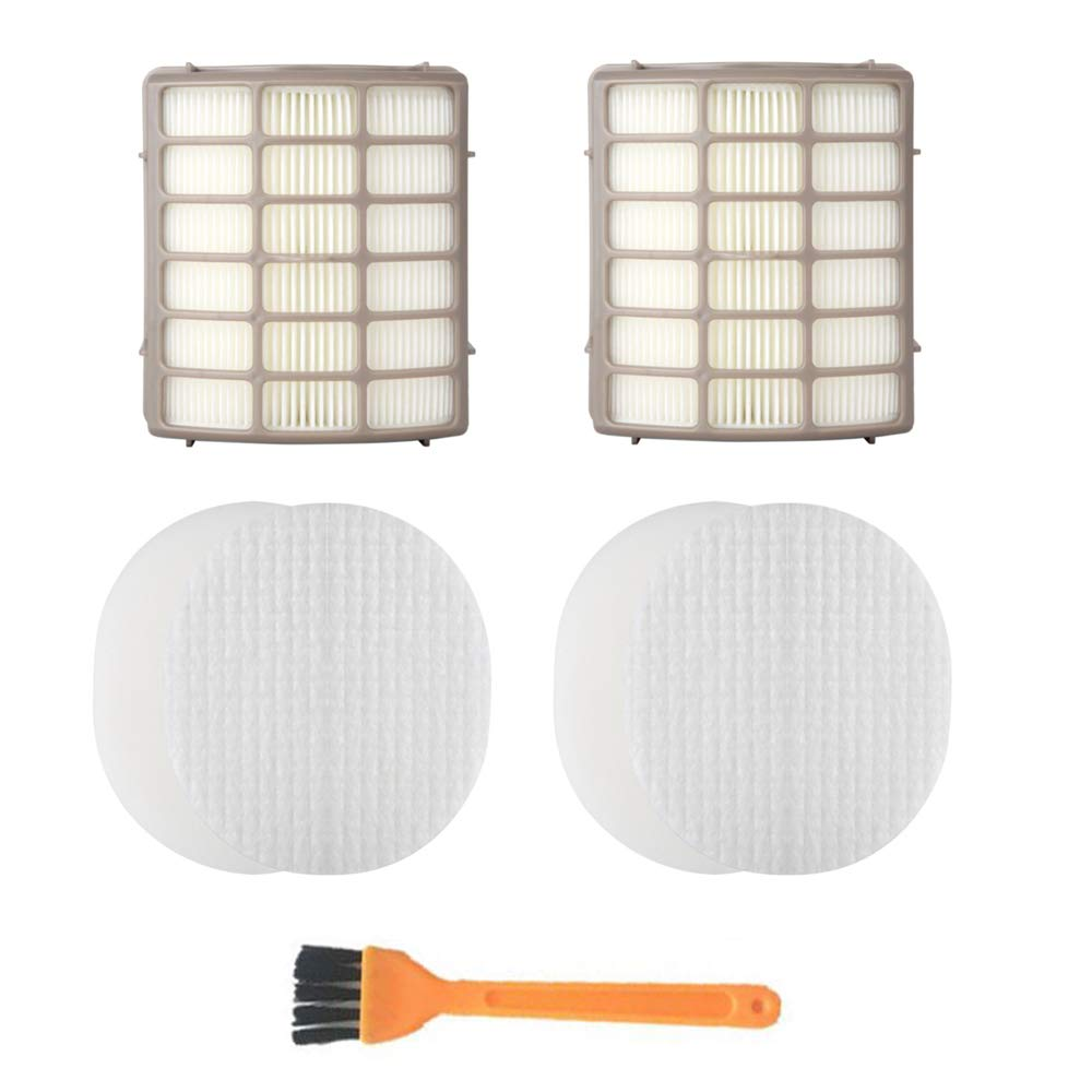 Octcosy 2 Foam & Felt + 2 Hepa Filters, Shark Navigator Rotator Professional Upright Vacuum NV70 NV71 NV80 NVC80C NV90 NV95 UV420 Filter Kit Replacement Part XFF80 XHF80