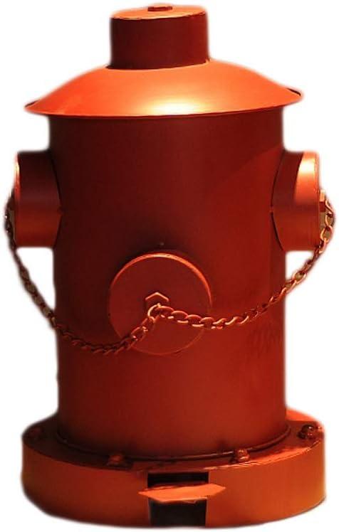 屋外ゴミ箱ホームキッチンインテリア アメリカの屋内と屋外のロフトレトロスタイル錬鉄工業用風ゴミ箱大規模な消火栓ペダルごみ箱 屋外ゴミ箱ホームキッチンインテリア (Color : Red, サイズ : 10.24*15.36inchs)