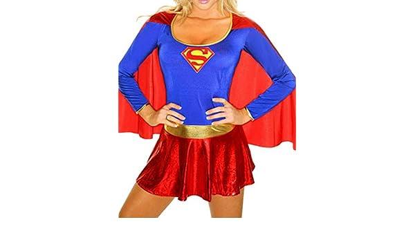 Bigood - Hero superwoman disfraz infantil de jugar traje cómic ...