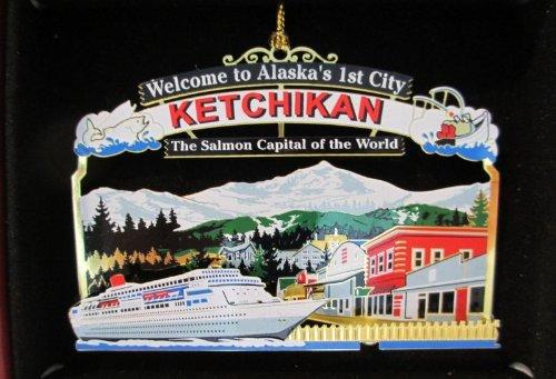 Nations Treasures Ketchikan Alaska Christmas Ornament Cruise Ship