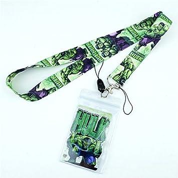 Cordones De La Correa para El Cuello De Hulk para Llaves Tarjeta De Identificación Gimnasio Correa para Teléfono Móvil USB Badge Holder Cuerda Colgante Llavero Regalo Azul: Amazon.es: Juguetes y juegos