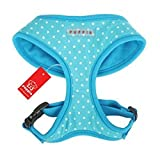 Puppia Dotty Harness A, Large, Sky Blue