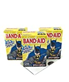 Batman Waterproof Superior Adhesive Bandage Bandaids by Johnson & Johnson. 3 Pack of Variety Comics Designs 20ct per Box (60 Band-Aids Total) Plus a Bonus Free Collection of Batman Kids Jokes by TPG