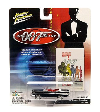 Johnny Lightning James Bond 40th Anniversary die-cast '57 CHEVY RAGTOP - DR. NO