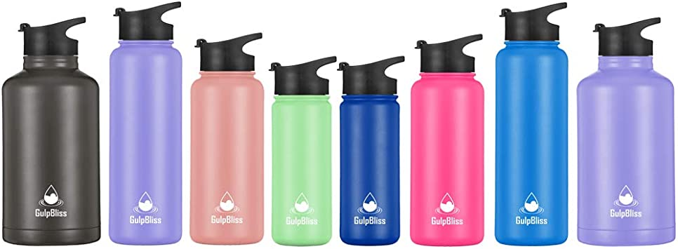 Water Drinking With Lid For Straw Flip Lids Cap Mouth Water Bottle With Straw JL