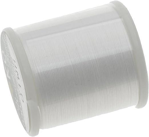 K.O 50m Japanese Nylon Beading Thread for Delica Beads White